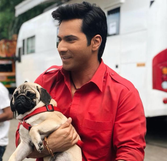 Varun Dhawan Is All Smiles In A Picture From The Sets Of Coolie No 1