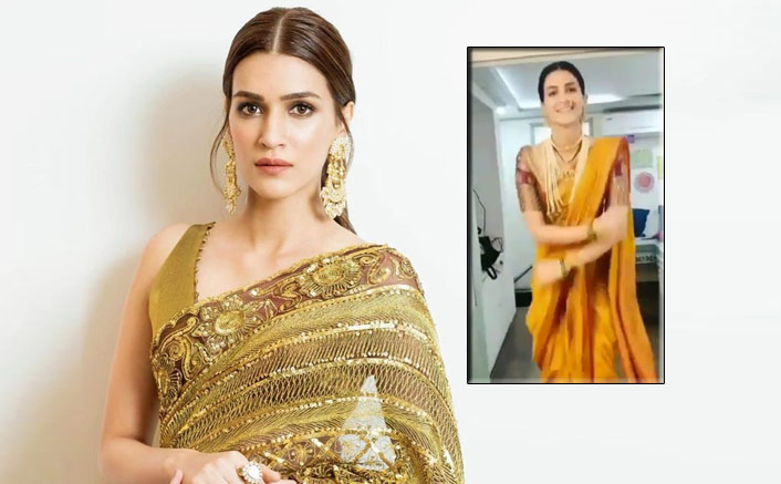VIDEO: Kriti Sanon Grooves To The Tunes Of 'Coca Cola' As Marathi Mulgi On The Sets Of 'Panipat'