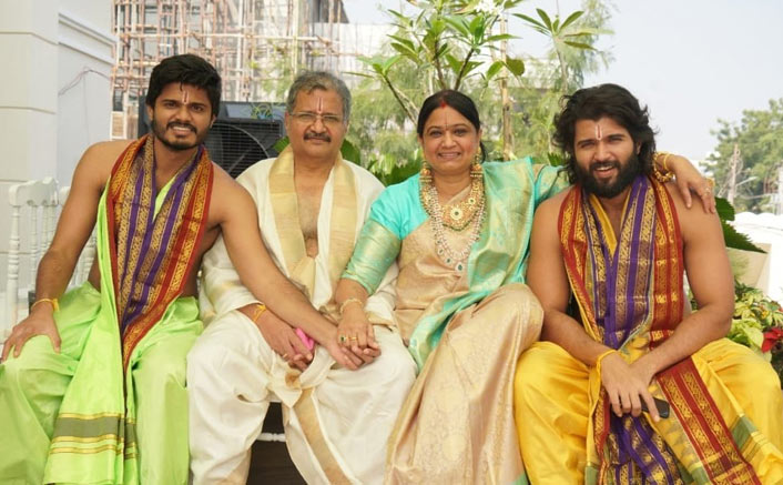Vijay Deverakonda Shares An Adorable Family Picture From House Warming Ceremony