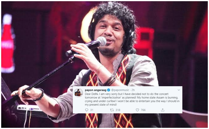 Singer Papon Cancels Delhi Concert Amidst Tensions, Curfew In His Hometown Assam