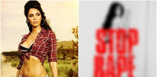 Mallika Sherawat Opposes Rape In A BOLD Way! See Pic