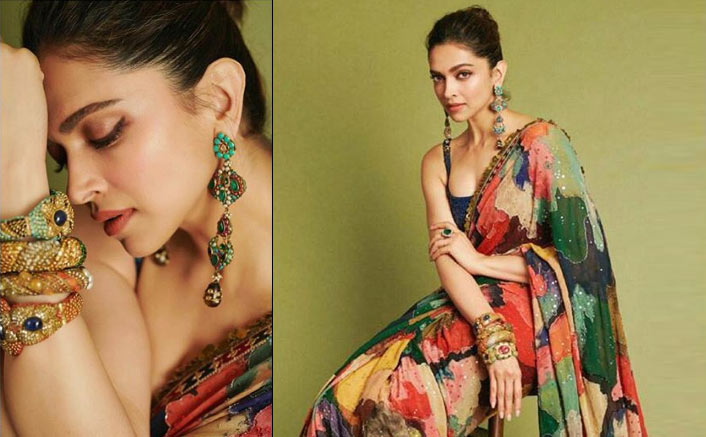 Add Bright Colours To Your Ethnic Wardrobe With Deepika Padukone's Multicoloured Sabyasachi Sari