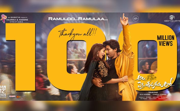Ala Vaikunthapurramloo: Allu Arjun Pens A Thank You Note On Achieving The Feat Of 100 Million Views For Song 'Ramuloo Ramulaa'