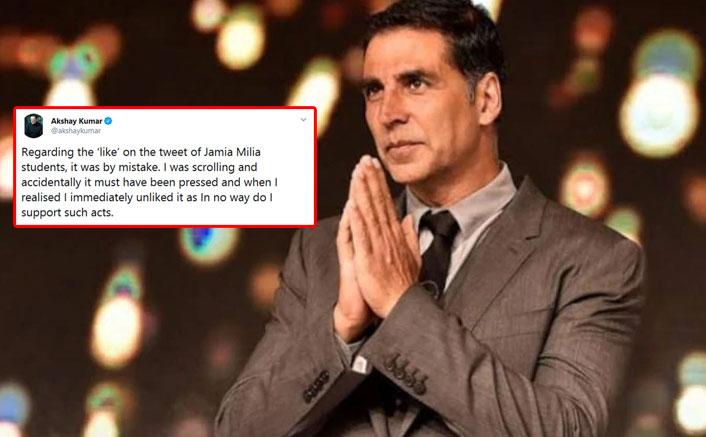#BoycottCanadianKumar: Akshay Kumar Faces Wrath For Liking Tweet Against Jamia Protest; Clarifies His Stance