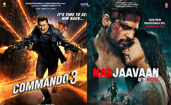 Commando 3 Vs Marjaavaan Box Office: 5 Day Business Comparison Of Sidharth Malhotra & Vidyut Jammwal Starrer