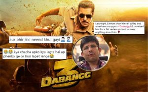 Dabangg 3: KRK Says Salman Khan Called Him & Requested For Fair Review, Gets Trolled By Fans
