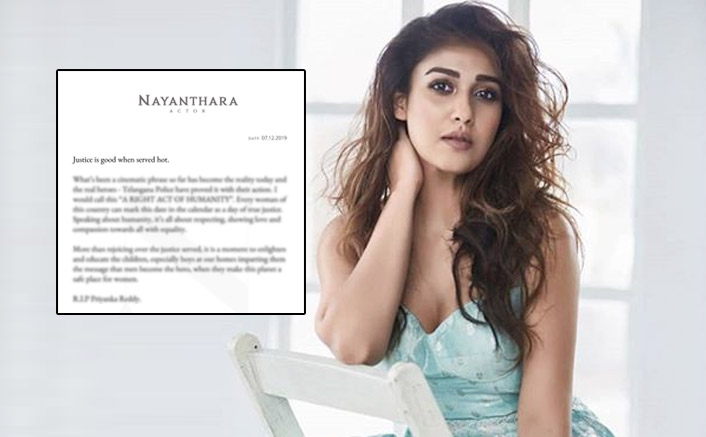 Darbar Actress Nayanthara Pens A Strong Note On Priyanka Reddy Rape Case In Hyderabad