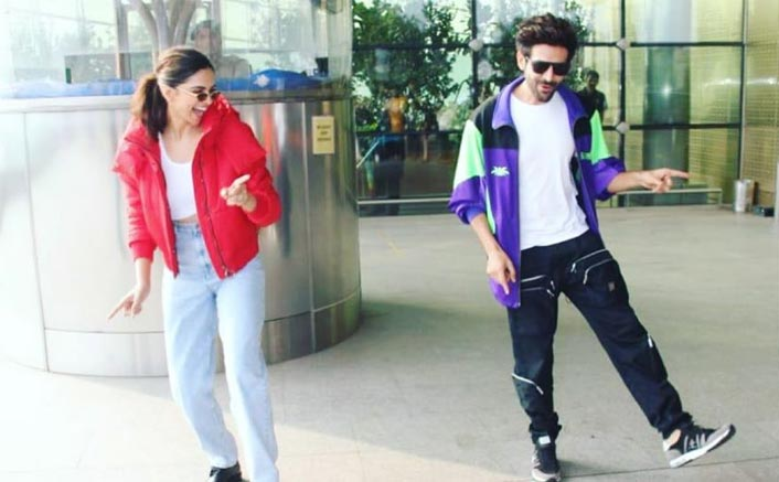 #DheemeDheemeChallenge: Deepika Padukone-Kartik Aaryan Groove To The Hook Step At The Airport!