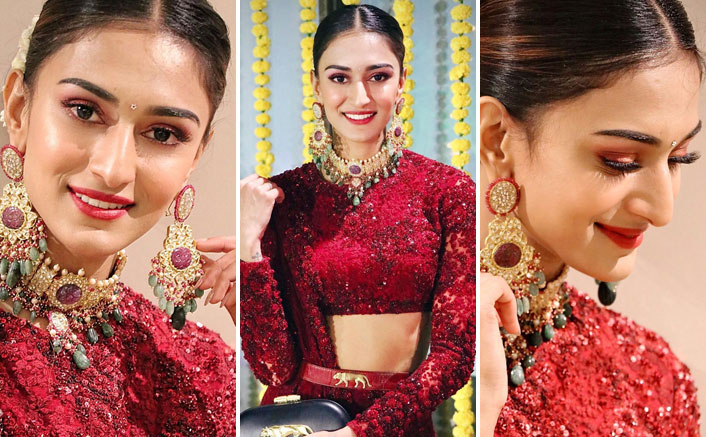 Erica Fernandes' Red Sabyasachi Lehenga Is The Perfect Outfit For All The Pretty Brides Out There!