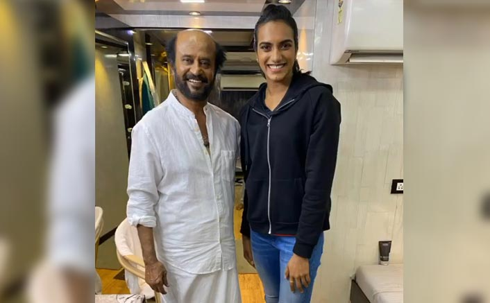 Badminton Star PV Sindhu Enjoys Her Fan Girl Moment With Rajinikanth In Hyderabad