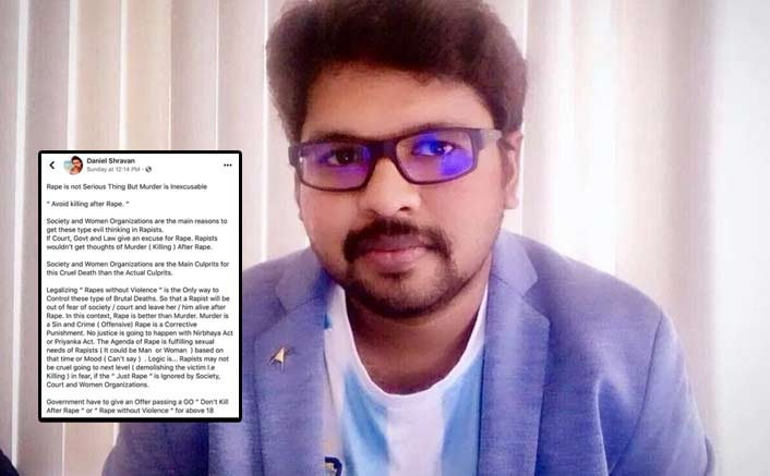 "Filmmaker Daniel Shravan: ""Women Should Carry Condom & Cooperate In Rape..""; Singer Chinmayi Sripaada Bashes Him"