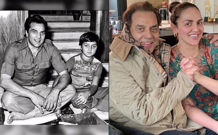 Here's how Bobby, Esha wished papa Dharamendra on his 84th bday