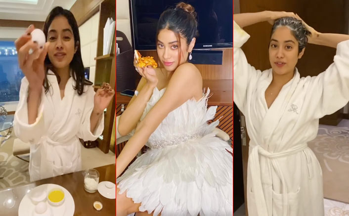 Janhvi Kapoor's Hair Care Routine Before A Red Carpet Appearance Is A Messy Solution To Gorgeous Hair
