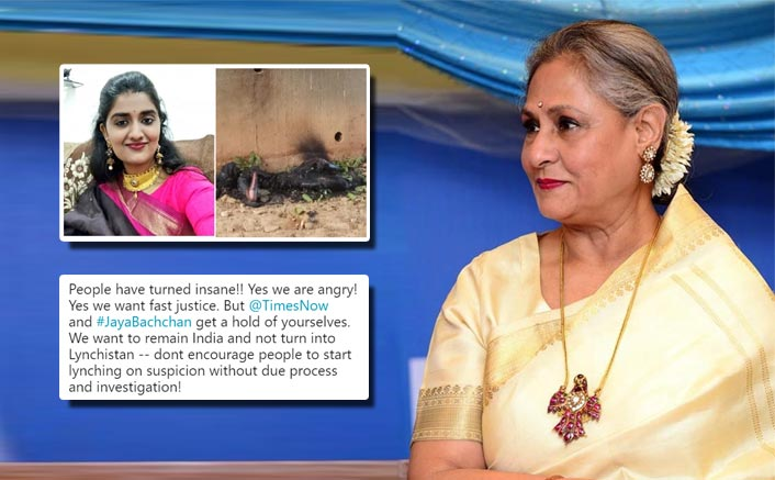 Jaya Bachchan Criticised For Her 'Public Lynching' Statement Over Priyanka Reddy Row