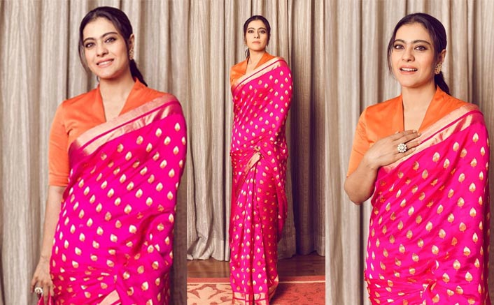 Kajol's Vibrant Raw Mango Saree Is A Perfect Fit For New Year's Kitty Party!