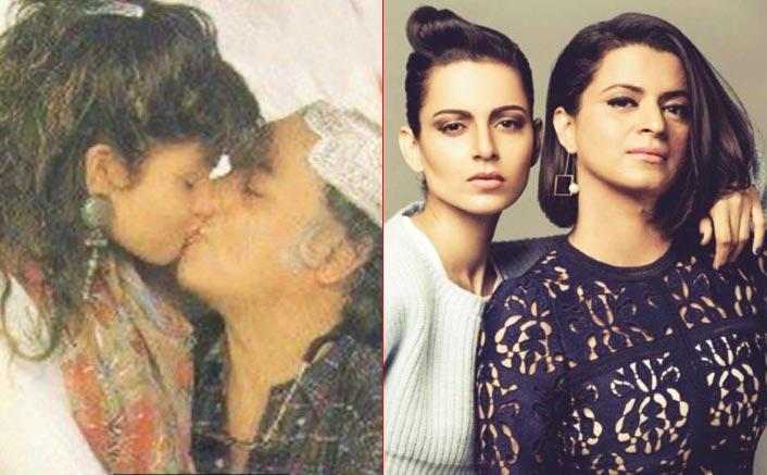 Kangana Ranaut's Sister Rangoli Attacks Mahesh Bhatt With A Picture Kissing Daughter Pooja Bhatt