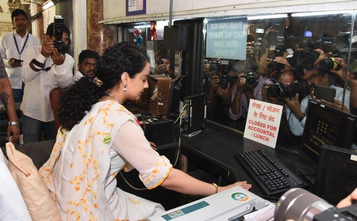 Kangana turns rail ticketseller at Mumbai station to promote film