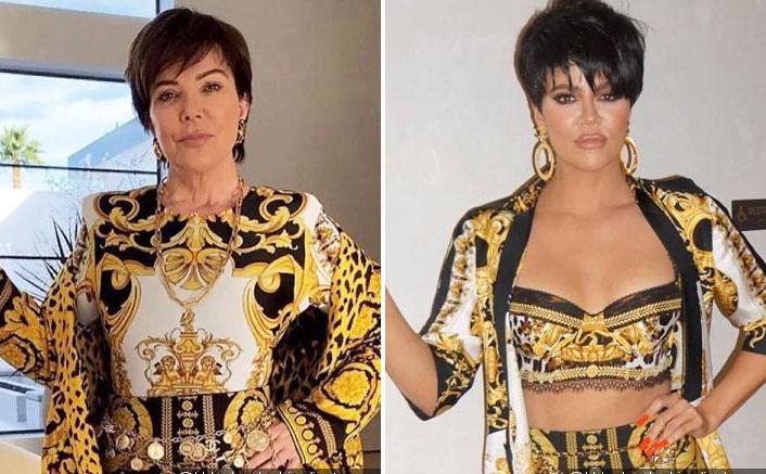 Khloe Kardashian does Kris Jenner impression
