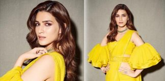 Kriti Sanon's Neon Yellow Saree With A Strapless Blouse Is A PERFECT Haldi Outfit For You!