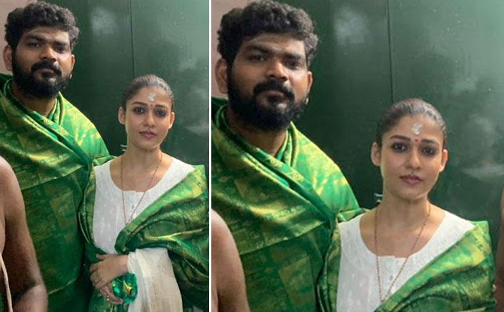 PICS: Darbar Actress Nayanthara & Beau Vignesh Shivan Seek Blessings At A Temple in Kanyakumari
