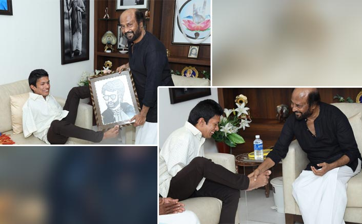 Rajinikanth Fulfills The Dream Of Differently Abled Artist Pranav