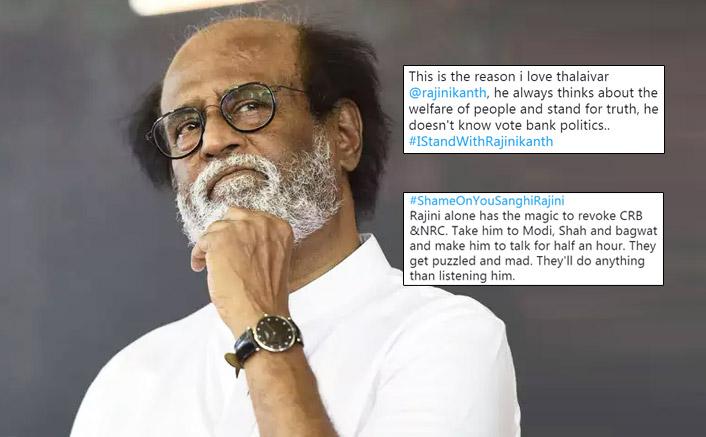 Rajinikanth's Tweet On CAA Protests Leads A Debate Among Twittratis As They Trend #IStandWithRajinikanth & #ShameOnYouRajini