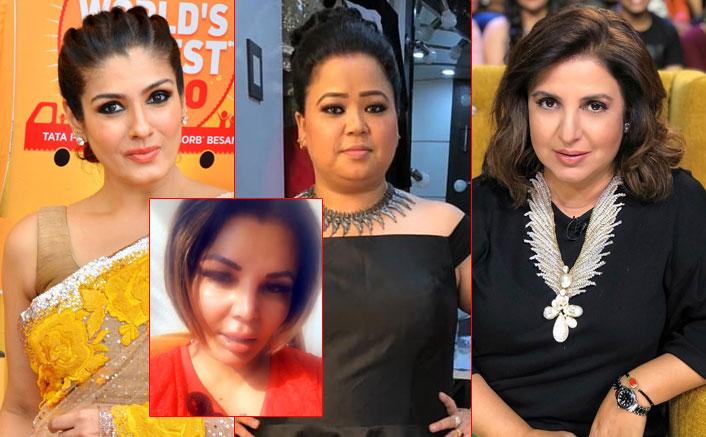 Rakhi Sawant Can't Stop Crying Because Of Raveena Tandon, Bharti Singh & Farah Khan; See VIDEO