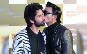 Ranveer Singh Kisses Shahid Kapoor Putting An End To The Cold War Rumours