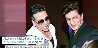 Shah Rukh Khan & Akshay Kumar Together In Dhoom 4? Fans Get Too Excited After Seeing Them Together At A Recent Award Function