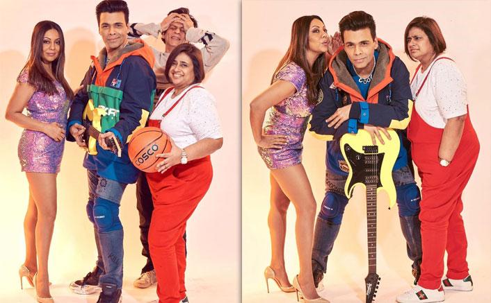 Gauri Khan & Karan Johar Revive Kuch Kuch Hota Hai In Quirky Avatars! Here's Shah Rukh Khan's Unmissable Reaction