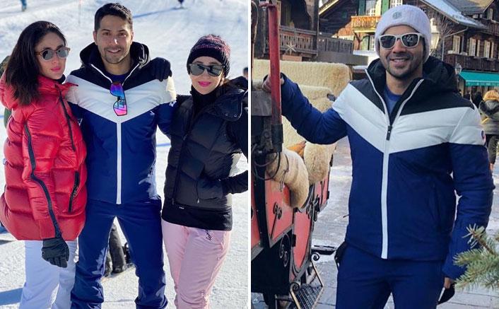 Varun Dhawan Bumps Into Kareena Kapoor Khan & Karisma Kapoor In Snowy Switzerland, Here's What Happened Next
