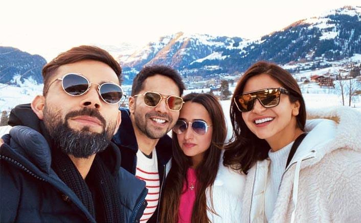 Varun Dhawan, Natasha Dalal, Virat Kohli & Anushka Sharma Pose For A Starry Pic Together In Switzerland