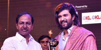 Vijay Deverakonda Honoured With A Prestigious Award By Telangana Chief Minister K.Chandrashekar Rao