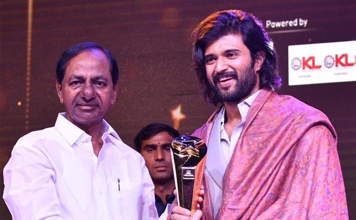Vijay Deverakonda Honoured With A Prestigious Award By Telangana Chief Minister K.Chandrashekar Rao