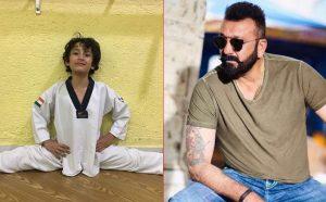 Sanjay Dutt proud of his 'little Karate kid'