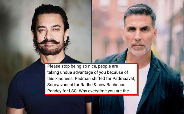 Akshay Kumar's Fans Are Furious After He Moves Bachchan Pandey On Aamir Khan's Request