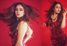 Amruta Khanvilkar set to rock the party in red