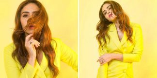 Malang Actress Amruta Khanvilkar's Yellow Attire Is The Apt Choice For A Lunch Date!