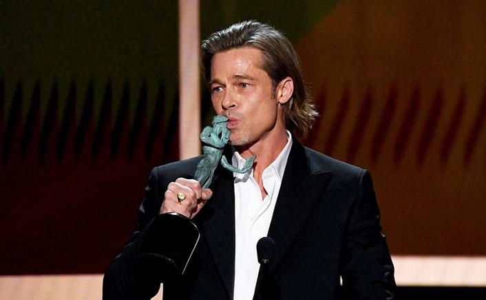 "Brad Pitt's Memorable SAG Awards Speech: ""Got To Add This To My Tinder Profile"""