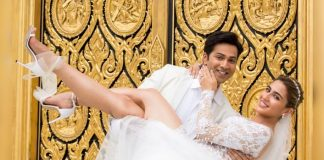 Coolie No. 1 New Still: Its A White Wedding For Varun Dhawan & Sara Ali Khan In the Film?