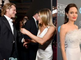 Did Brad Pitt & Jennifer Aniston's Reunion At SAG Awards Both Angelina Jolie? Check Out Her Reaction