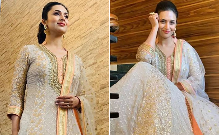 Divyanka Tripathi's Off-White Suit Outfit Could Be Your Sangeet Attire This Wedding Season!