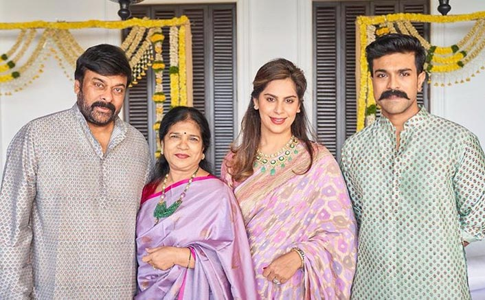Family Goals: Chiranjeevi & Ram Charan Look Dapper As They Pose For A Family Pictur