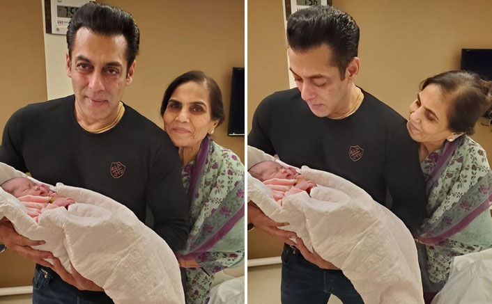 FIRST Picture Unveiled! Maamu Salman Khan Is All Proud While Holding Ayat
