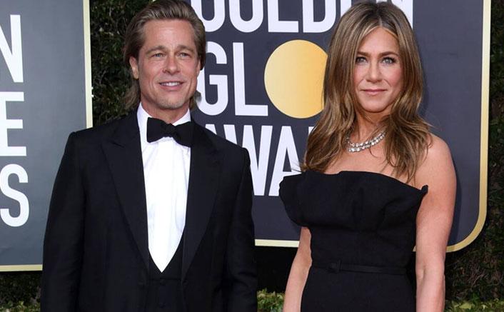 Golden Globes 2020: Jennifer Aniston Cutely Gazing At Brad Pitt Giving His Winner Speech Will Remind You Of Rachel & Joey At The Soapie Award
