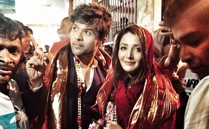 Happy Hardy and Heer Jodi Himesh Reshammiya and Sonia Mann seek blessings in Mathura at Banke Bihari temple for their film Happy Hardy and Heer