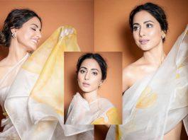 Hina Khan Is A Sight To Behold In A Chiffon Saree At Lions Gold Awards 2020, PICS