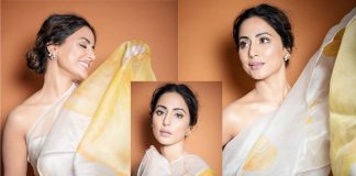 Hina Khan Is A Sight To Behold In A Chiffon Saree At Lions Gold Awards 2020, PICS