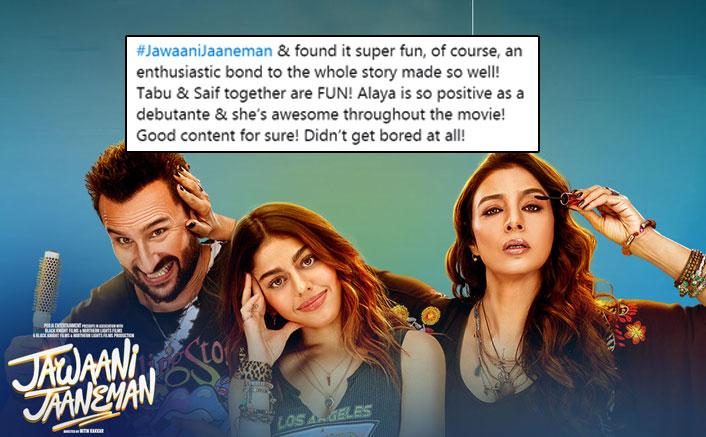 Jawaani Jaaneman Gets Big Thumbs Up From Twitterati, People Are Loving Saif Ali Khan & Debutante Alaya F