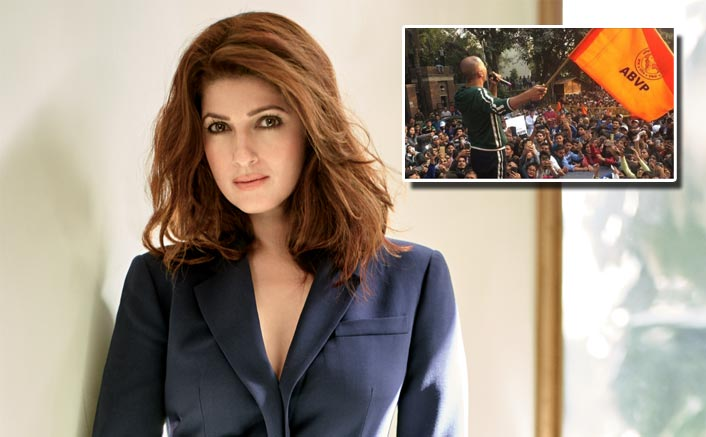 #JNUViolence: Twinkle Khanna Condemns The Attack On Students; Netizens Hit Back With Old Pic Of Akshay Kumar Waving The ABVP Flag